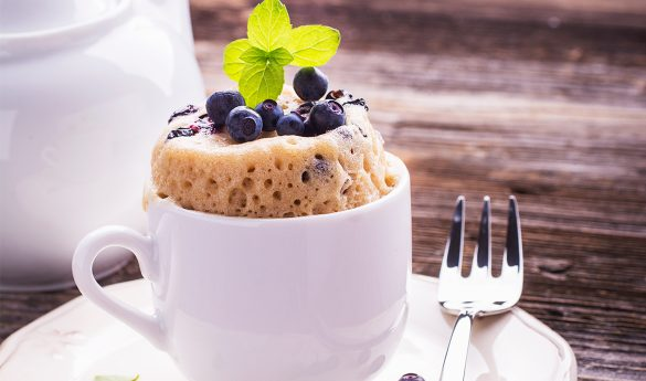 Low-calorie mug cake recipe