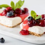 A fast and simple no-bake fruit cheesecake recipe